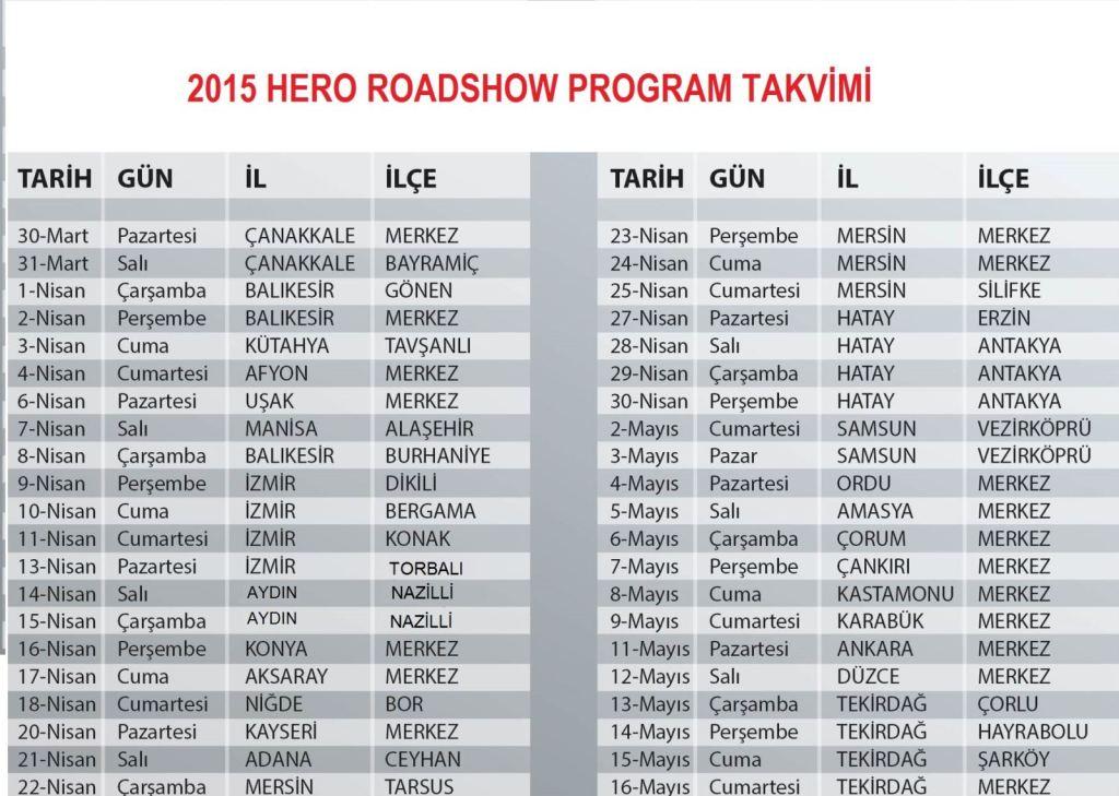 2015 Hero Roadshow Başlıyor 3. İçerik Fotoğrafı