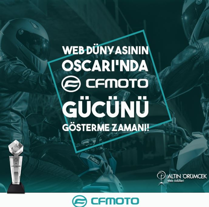 Altın Örümcek Web Ödülleri'nde CF Moto Finalde! 1. İçerik Fotoğrafı