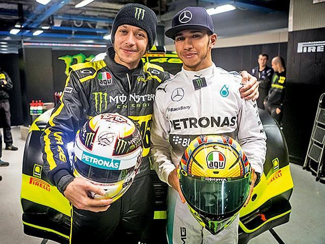 F1'in Dev İsmi Lewis Hamilton, Rossi'yi Ziyarete Gitti! 2. İçerik Fotoğrafı