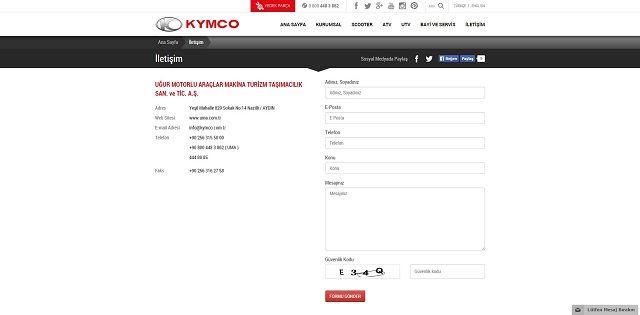 Kymco.com.tr'ye Yakın Bakış 4. İçerik Fotoğrafı
