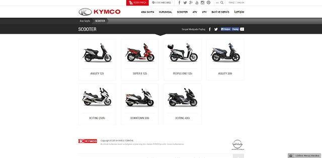 Kymco.com.tr'ye Yakın Bakış 5. İçerik Fotoğrafı