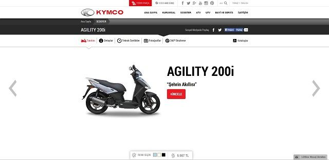 Kymco.com.tr'ye Yakın Bakış 9. İçerik Fotoğrafı