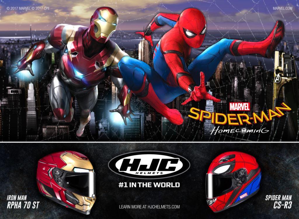 Yeni Versiyonu ile HJC Spider-Man ve Iron-Man Konseptli Kask! 1. İçerik Fotoğrafı